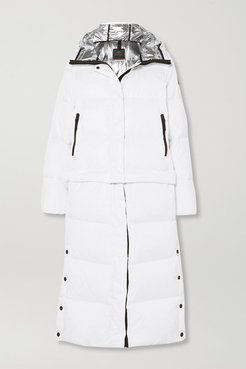 BOGNER FIREICE - Bia Convertible Hooded Quilted Down Ski Jacket - White