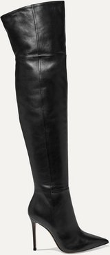 105 Leather Over-the-knee Boots - Black
