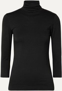Aja Stretch-jersey Turtleneck Top - Black