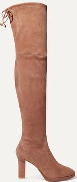 Ledyland Suede Platform Over-the-knee Boots - Light brown