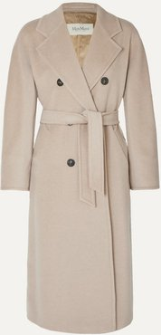 Madame Belted Double-breasted Wool And Cashmere-blend Coat - Beige