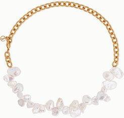 Two Faced Shelley Gold-plated Pearl Necklace