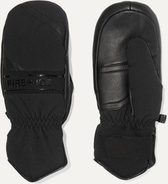 BOGNER FIREICE - Petula Padded Leather And Shell Ski Mittens - Black