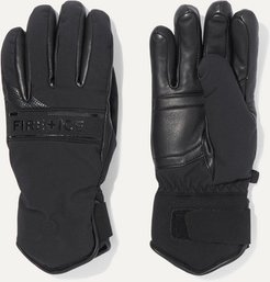 BOGNER FIREICE - Isa Padded Leather And Shell Gloves - Black