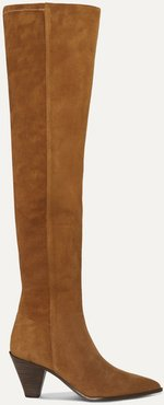 Shoreditch 70 Suede Over-the-knee Boots - Tan