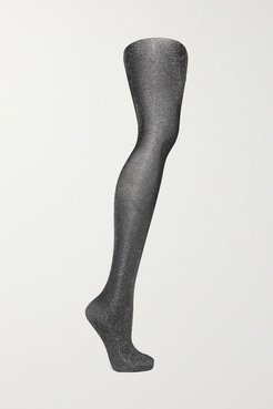 Highshine Metallic 20 Denier Tights - Silver