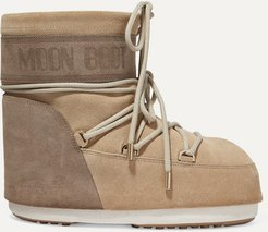 Coated-suede Snow Boots - Sand