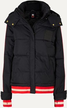 Dc Counterpunch Striped Hooded Quilted Ski Jacket - Black