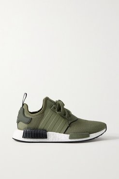 Nmd R1 Rubber-trimmed Stretch-knit Sneakers - Army green