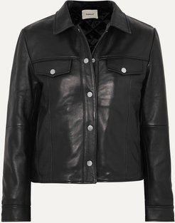 Net Sustain Frankie Leather Jacket - Black