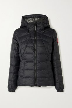 Abbott Hooded Quilted Shell Down Jacket - Black