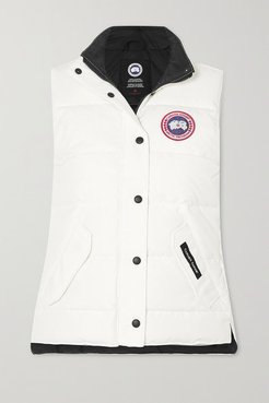 Freestyle Quilted Shell Down Vest - White