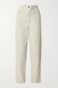 Corsy High-rise Tapered Jeans - Mint