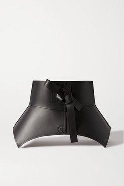 Obi Leather Waist Belt - Black