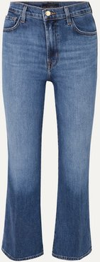 Julia Cropped High-rise Flared Jeans - Mid denim