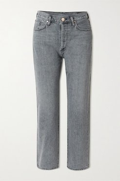 Net Sustain The Relaxed Straight Mid-rise Straight-leg Jeans - Gray