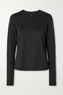 Finesse Stretch-jersey Top - Black