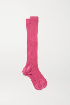 Ribbed Organic Cotton Socks - Pink