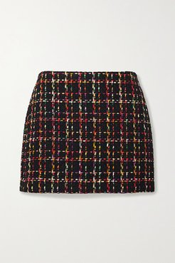 Alice Olivia - Elana Tweed Mini Skirt - Black