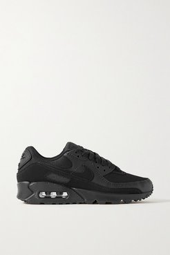 Air Max 90 Leather, Suede And Mesh Sneakers - Black