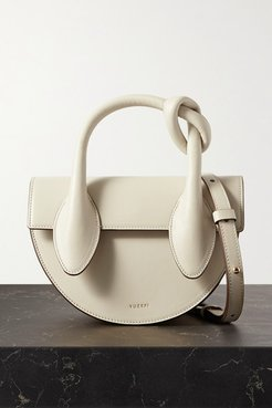 Dolores Mini Knotted Leather Tote - Off-white