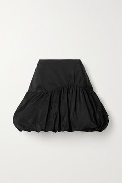 Scandal's Bride Gathered Taffeta Mini Skirt - Black