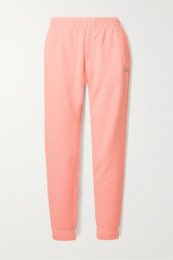 Alpha Organic Cotton-blend Jersey Track Pants - Peach