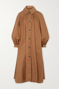 Oversized Cotton-twill Trench Coat - Tan