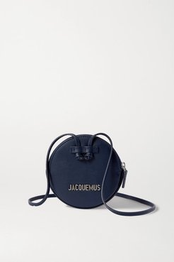 Le Pitchou Mini Textured-leather Pouch - Navy