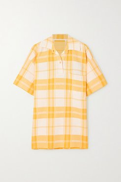 Torchon Oversized Checked Cotton-blend Shirt - Yellow