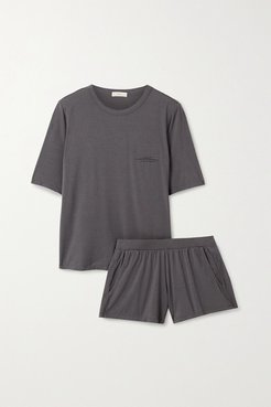 Finley Stretch-bamboo Pajama Set - Gray