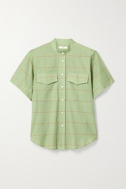 Checked Cotton-voile Shirt - Green