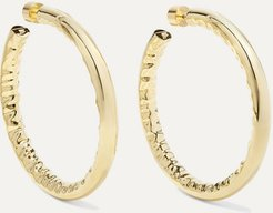 "2"" Jennifer Gold-plated Hoop Earrings"