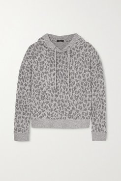 Murray Leopard-print Brushed-jersey Hoodie - Gray