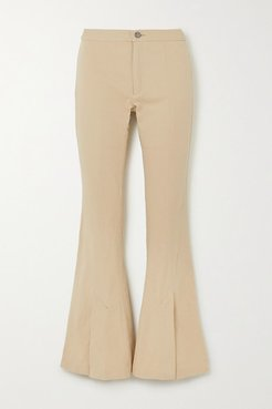 Still Dreaming Stretch-organic Cotton Flared Pants - Beige