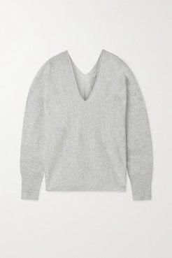 Cashmere And Linen-blend Sweater - White