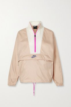 Icon Clash Convertible Shell Track Jacket - Antique rose