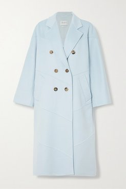 Stagno Double-breasted Cashmere Coat - Light blue
