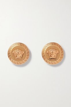 Medusa Gold-tone Earrings