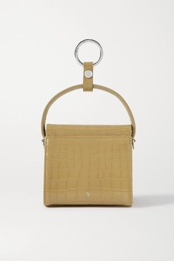 Play Mini Croc-effect Leather Tote - Sand
