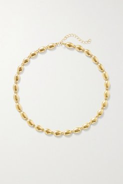Deep In Grassland Gold-plated Necklace