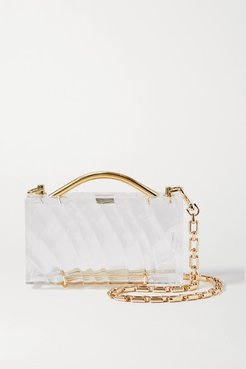 Amnis Mini Textured-acrylic Tote - Clear