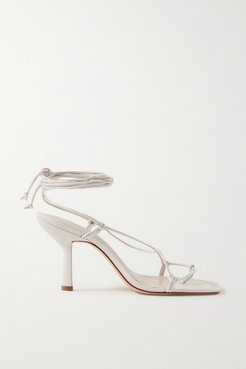 Knotted Leather Sandals - Off-white