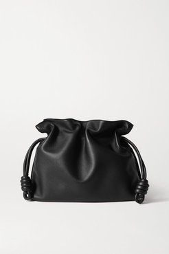 Flamenco Leather Clutch - Black