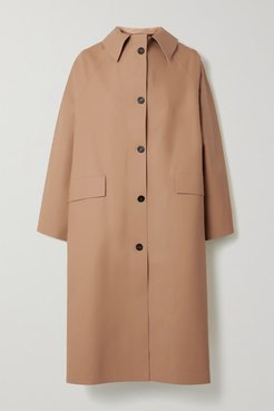 Faux Leather Coat - Light brown