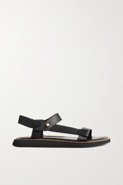 Parker Leather Sandals - Black