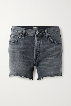 Marlow Distressed Organic Denim Shorts - Black
