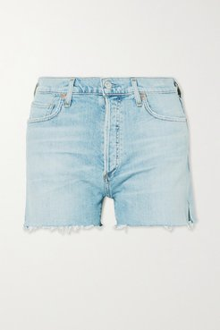Marlow Distressed Organic Denim Shorts - Light denim