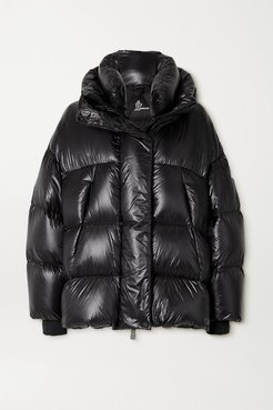 Arpuilles Quilted Glossed-shell Down Jacket - Black