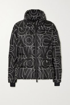 Dixence Printed Quilted Down Ski Jacket - Black